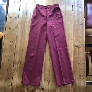Vintage Berry Wine High Waisted Pants